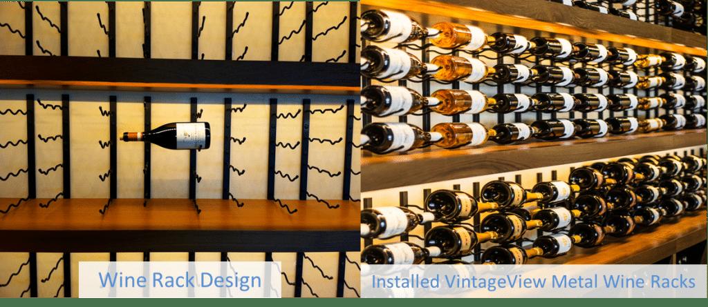 VintageVew Metal Wine Racks for Commercial Wine Storage