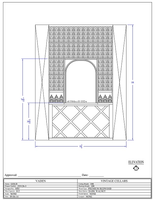Wine Rack Design Elevation 2